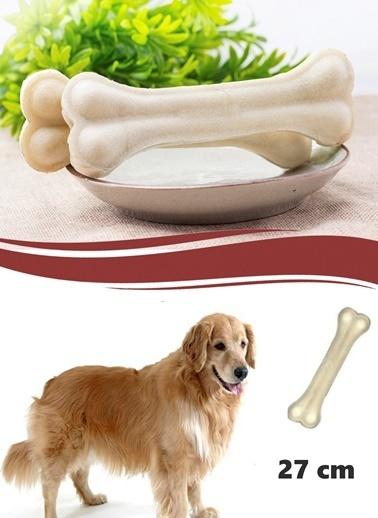 Buffer Sütlü Pres Deri Köpek Çiğneti Kemik 27 Cm-Practika
